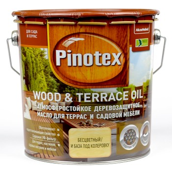 Pinotex Wood&Terrace Oil б/цвет., 2,7л