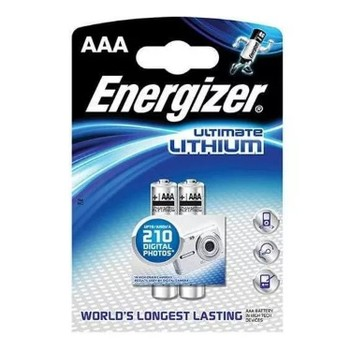 Элемент питания Energizer Ultimate 639170, LR03/E92 (AAA), lithium, FSB 2 шт.