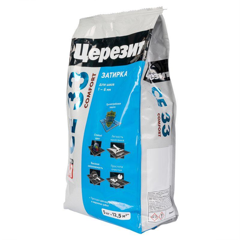 Затирка Ceresit CE 33 comfort серая, 5 кг фото