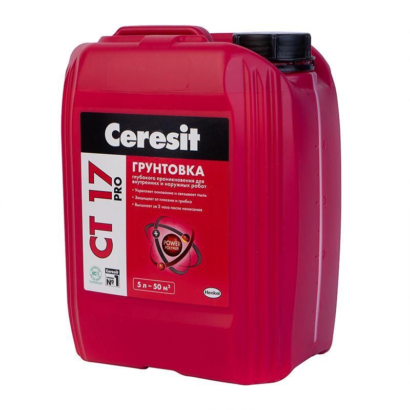 Грунтовка Ceresit CT17, 5 л фото