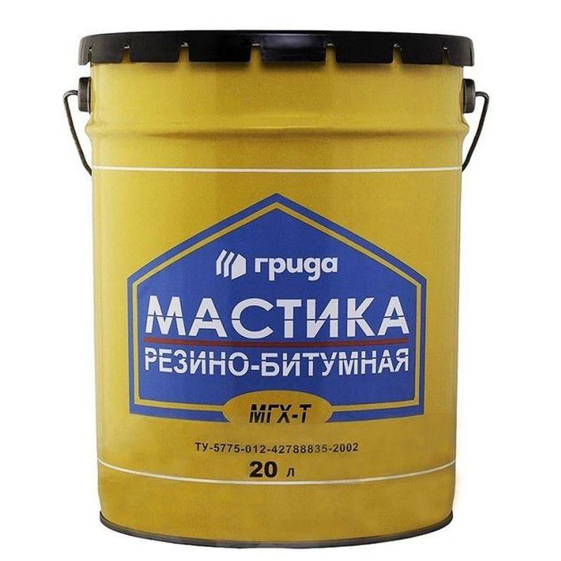 Мастика резиново-битумная Грида МГХ-Т, 18 кг фото