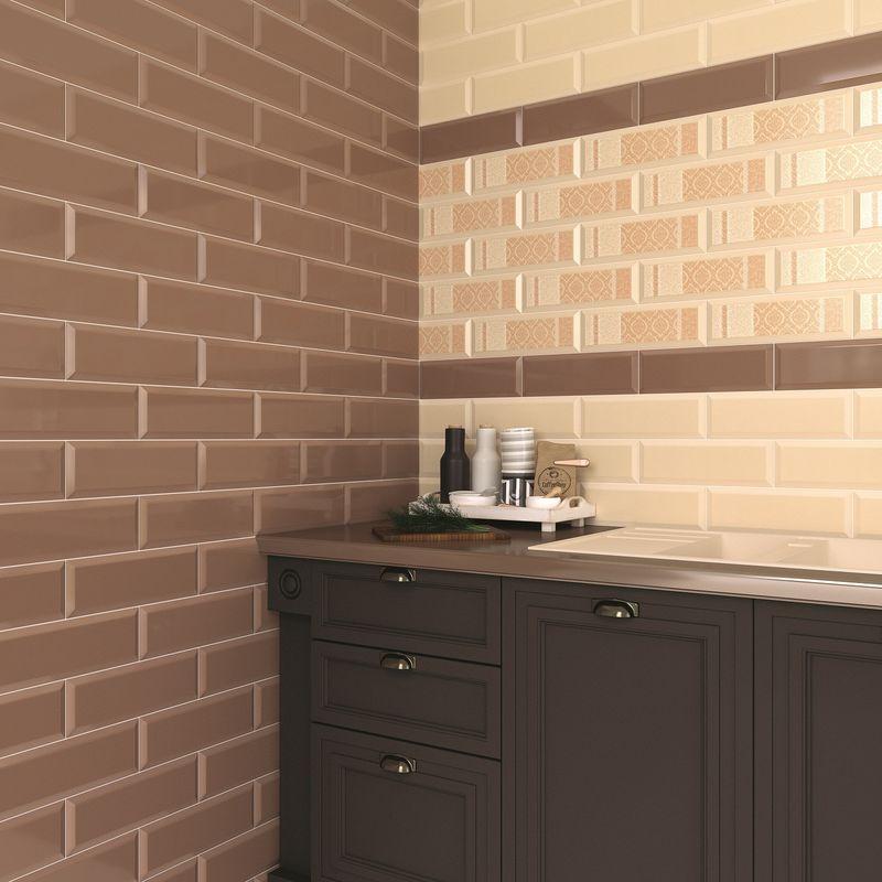 Плитка керамическая Gracia Ceramica Metro beige light wall 100х300 мм