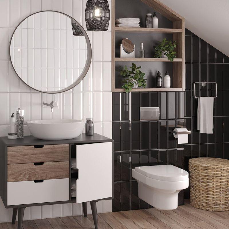Плитка керамическая Gracia Ceramica Metro black wall 100х300 мм
