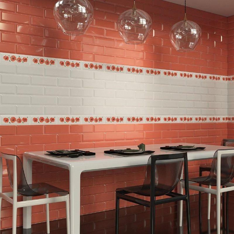 Плитка керамическая Gracia Ceramica Metro red wall 100х300 мм