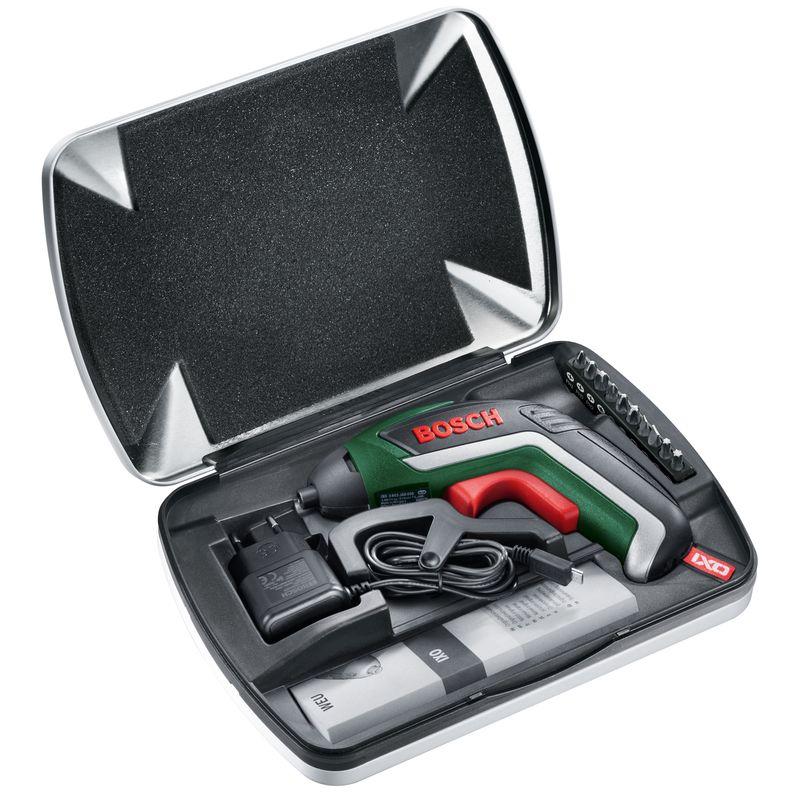 Аккумуляторный шуруповёрт с литий-ионным аккумулятором IXO Full Комплект — c угловой и эксцентриково