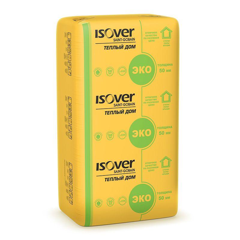 Утеплитель ISOVER Теплый дом плита 1170х610х50 мм 14 штук в упаковке фото