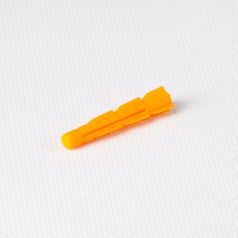 Дюбель полипропиленовый 6х42 мм тип U потай, оранжевый
