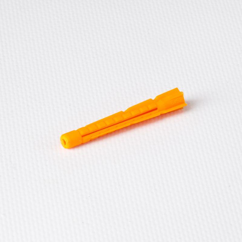 Дюбель полипропиленовый 6х52 мм тип U потай, оранжевый