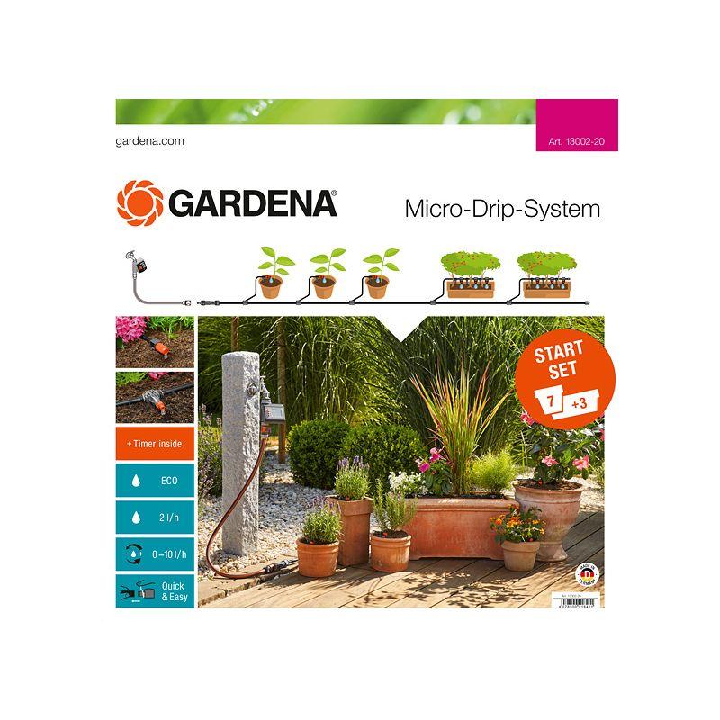 Комплект микрокаельного полива с таймером EasyControl арт 13002 Gardena фото
