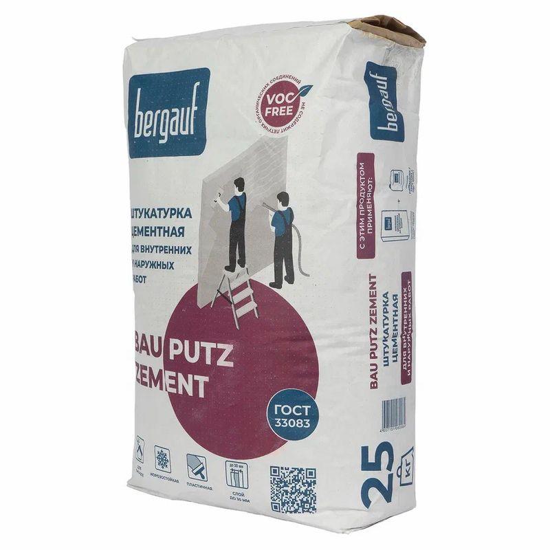 Штукатурка цементная Bergauf Bau Putz Zement 25 кг фото