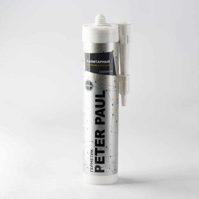 Герметик силиконовый Peter Paul санитарный (белый), 300 мл фото