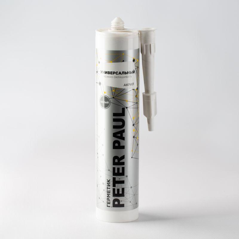 Герметик акриловый Peter Paul (белый), 300 мл фото