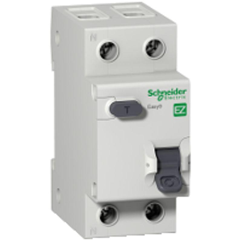 Купить со скидкой Дифференциальный автоматический выключатель 1П+N С 10А 30мА-АС Schneider Electric easy 9