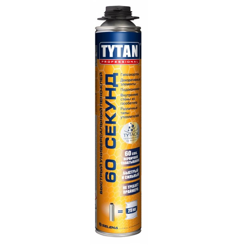 Купить со скидкой Клей-пена Tytan Professional 60 секунд, профессиональная, 750мл