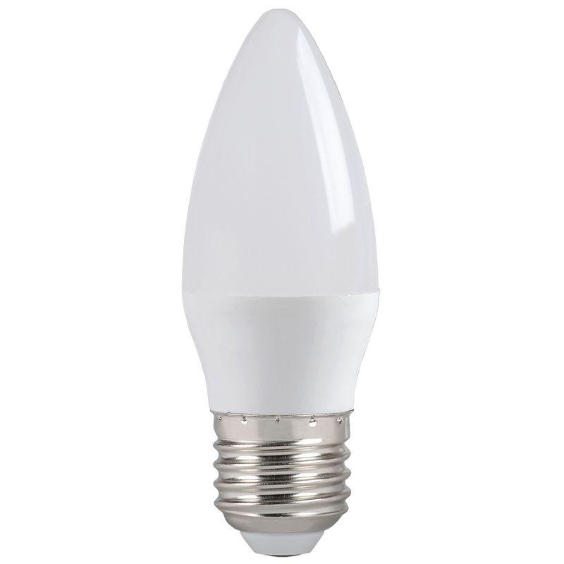 Лампа светодиодная ECO C35 свеча 7Вт, холодный свет, E27 IEK