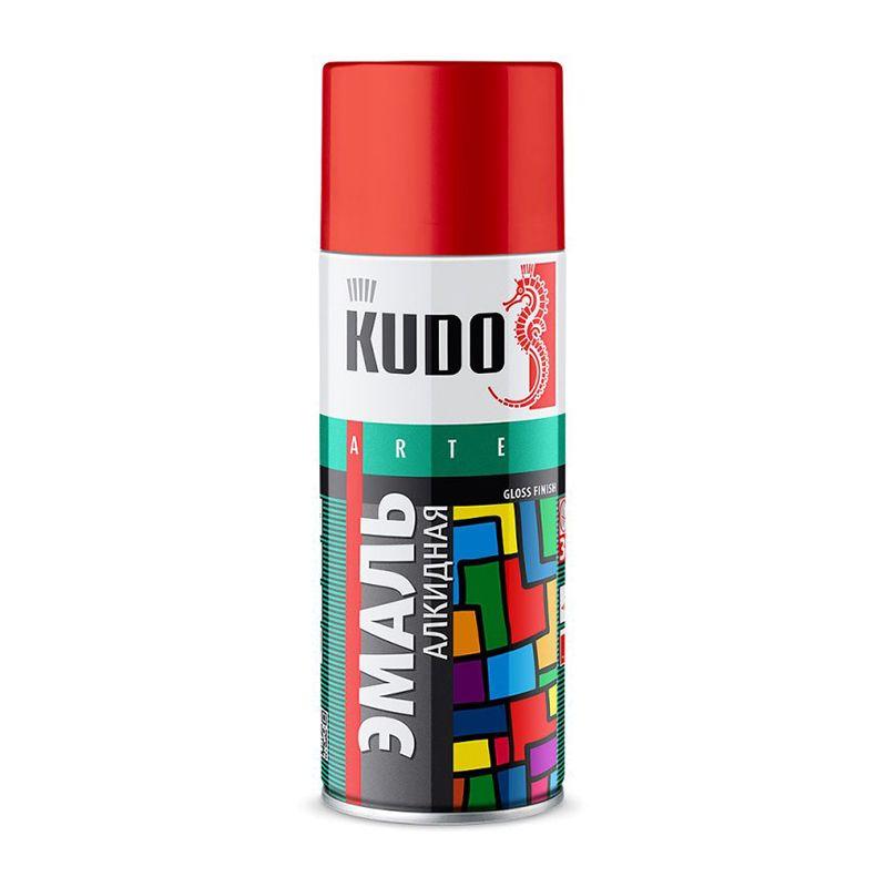 Эмаль аэрозольная KUDO зеленая, 0,52л фото