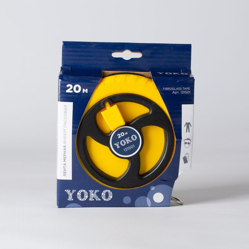 Лента мерная Yoko фиберглассовая, 20 м фото
