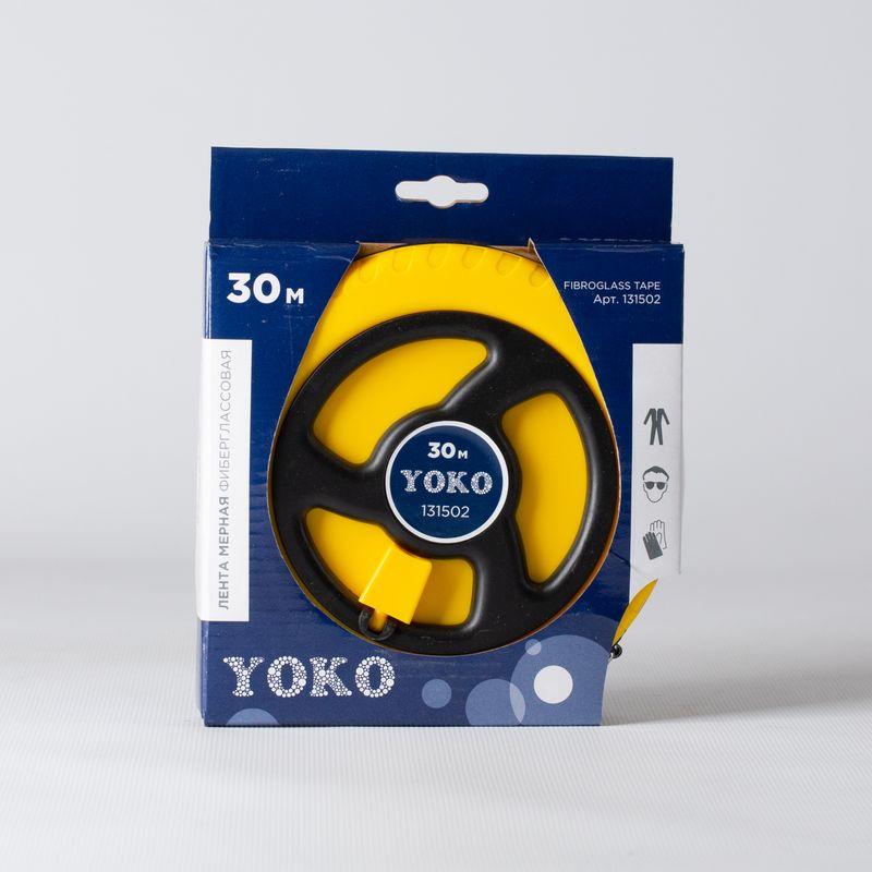 Лента мерная Yoko фиберглассовая, 30 м фото