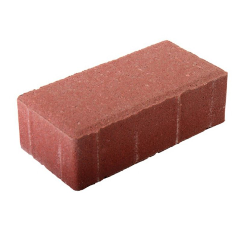 Плитка тротуарная Брусчатка 200*100*60 красная фото
