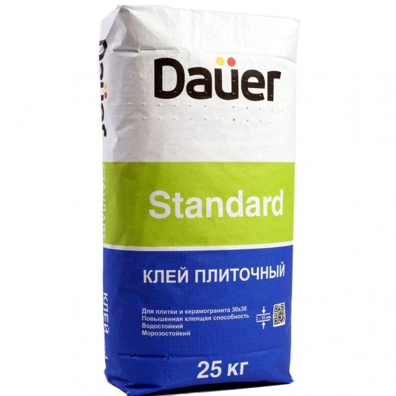 Клей для плитки и керамогранита Dauer Standard 25 кг фото