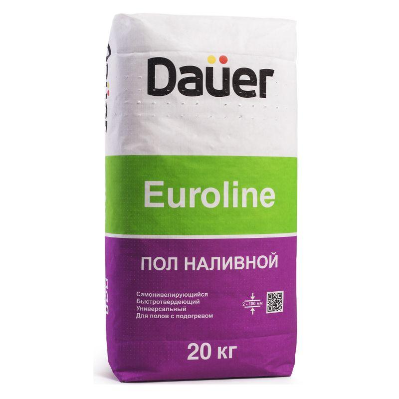 Наливной пол быстротвердеющий 20кг Dauer EUROLINE фото