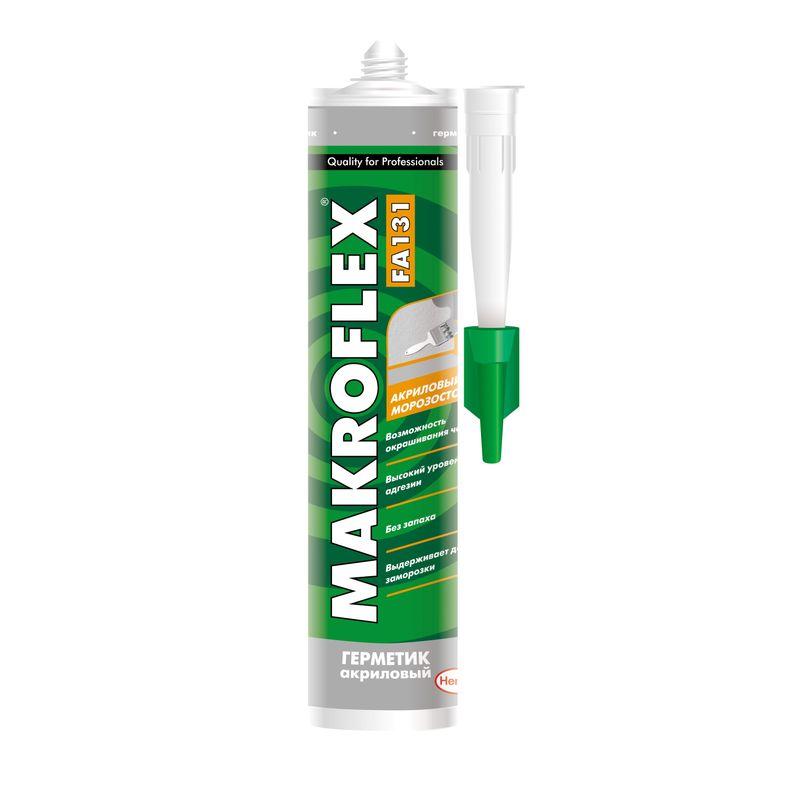 Купить Герметик Макрофлекс FХ130 Акриловый (белый), 290мл, Makroflex, Белый