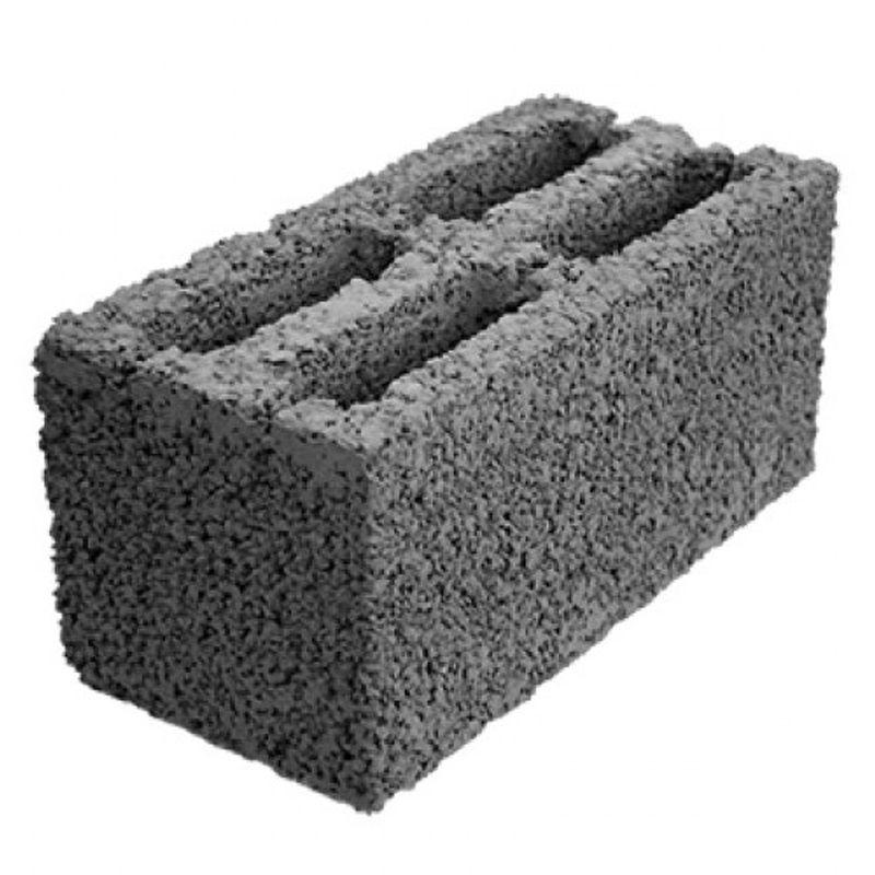 Блок керамзитобетонный стеновой 4-х щелевой 390х190x188 мм фото