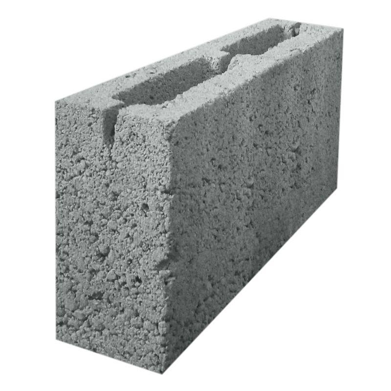 Блок керамзитобетонный перегородочный 2-х щелевой 390х188x90 мм фото