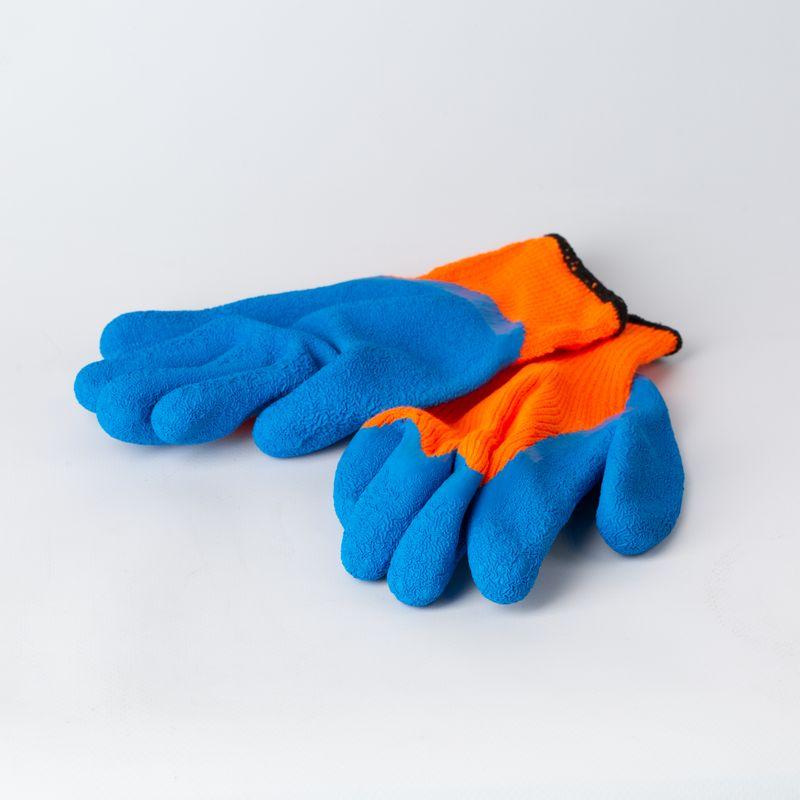 Перчатки акриловые «Сигнал», утепленные с латексным покрытием