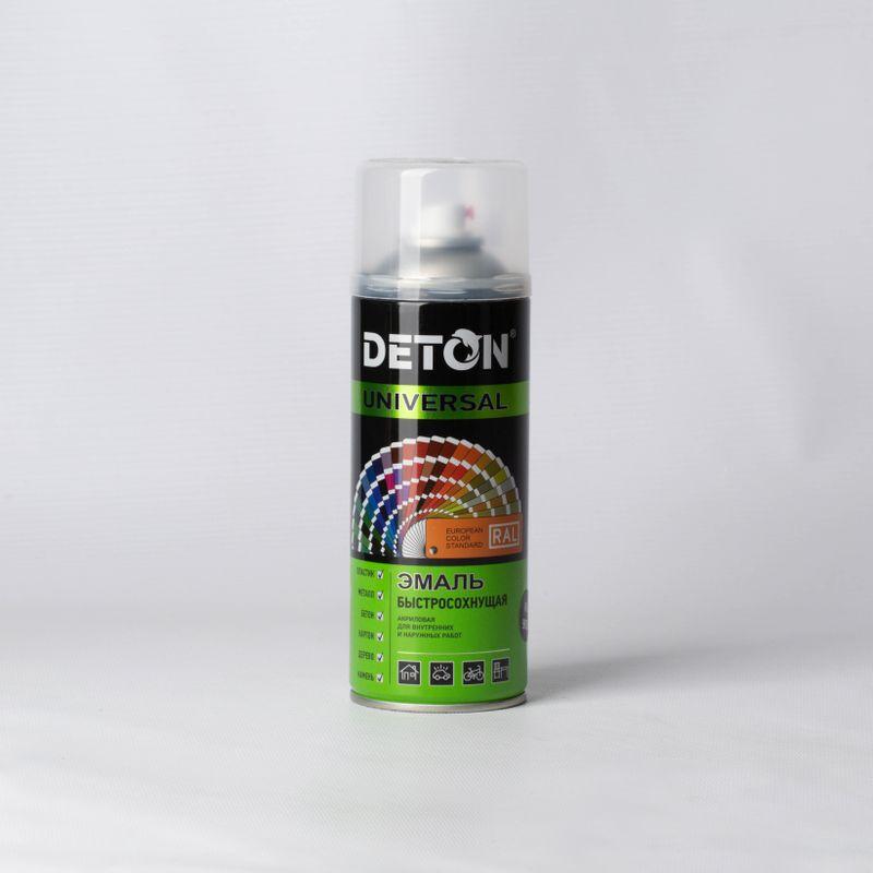 Эмаль аэрозольная DETON серая (7040), 0,52л фото