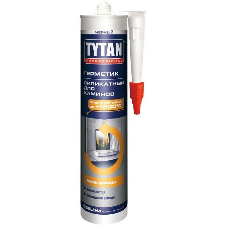 Герметик Силикатный для каминов черный Tytan Professional 310 мл фото