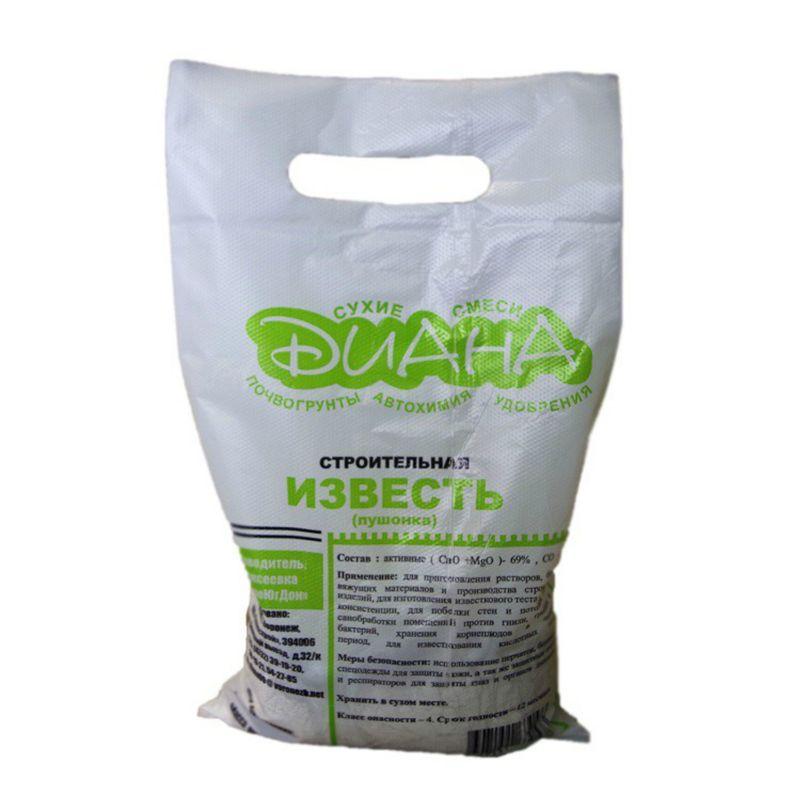 Известь-пушонка (гашеная) Диана, 2 кг