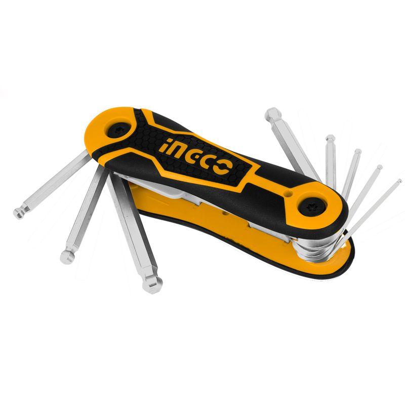 Набор ключей шестигранных с защитой Ingco HHK14082 Industrial, 2-8 мм