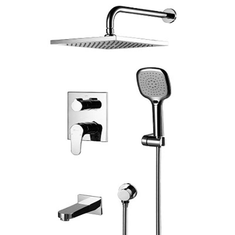 Купить Смеситель встраиваемый для ванны и душа Lemark Shift LM4322C, Хром, Чехия