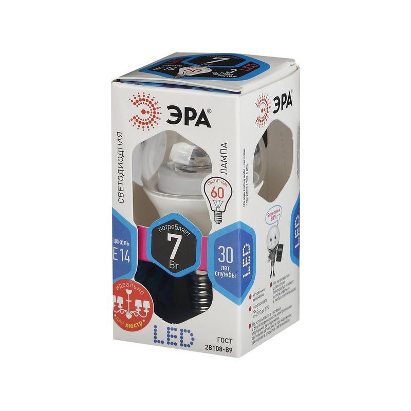 Купить Светодиодные лампы ЭРА LED smd P45-7w-840-E14-Clear серии CLEAR, Эра, Россия