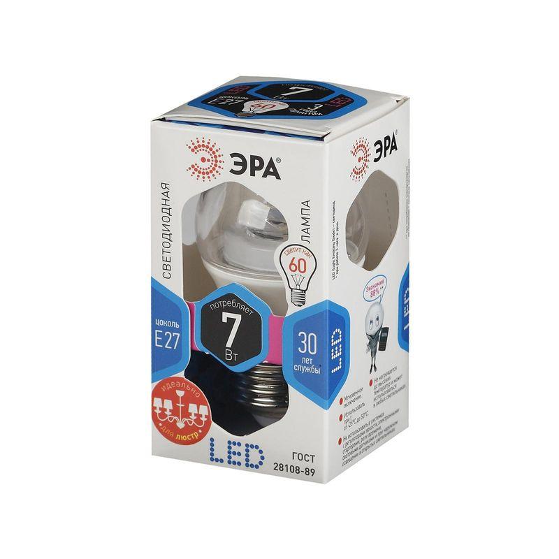 Купить Светодиодные лампы ЭРА LED smd P45-7w-840-E27-Clear серии CLEAR, Эра, Россия