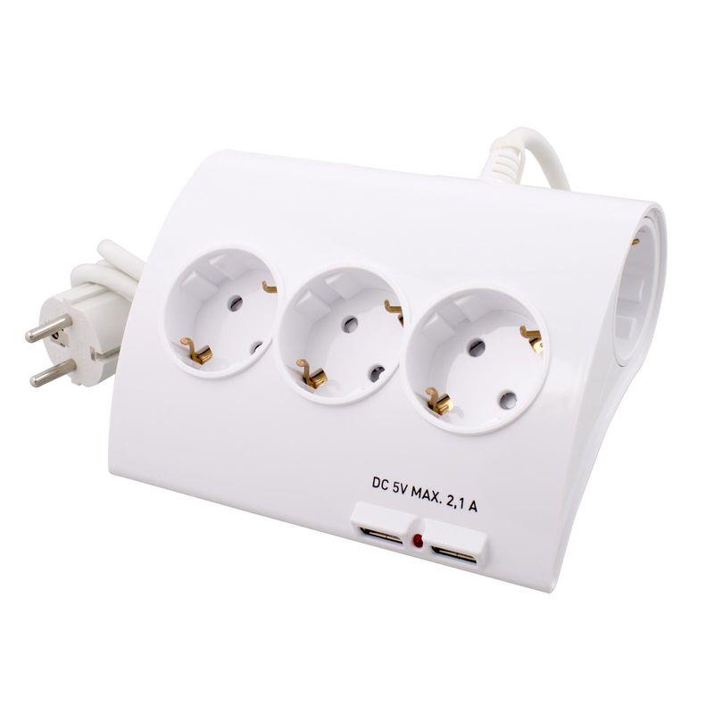 Купить со скидкой Сетевой удленитель на 5 розеток и 2 USB порта (2,1 А). СТАРТ С/У S 5x1-ZDV 2USB с заземлением Сечени