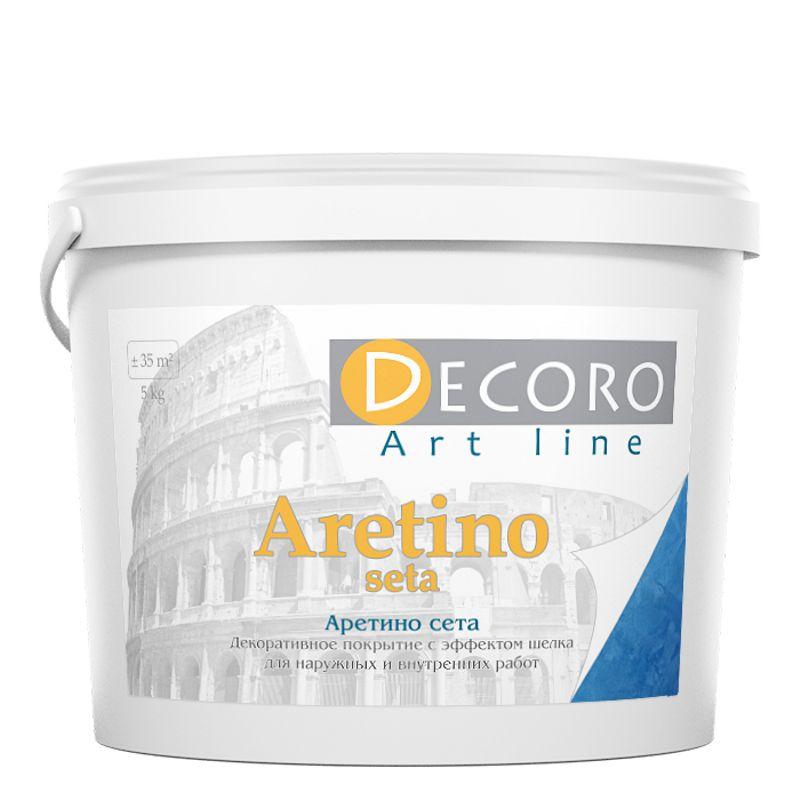 Краска перламутровая Decoro Aretino seta (эффект шелка), медь, 1кг фото