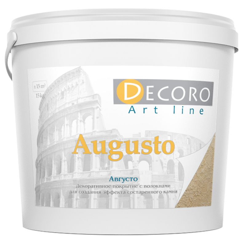 Штукатурка декоративная моделирующая Decoro Augusto (эффект камня),