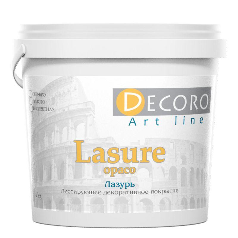 Лак лессирующий Decoro Lasure (эффект античной патины), серебро, 5кг фото