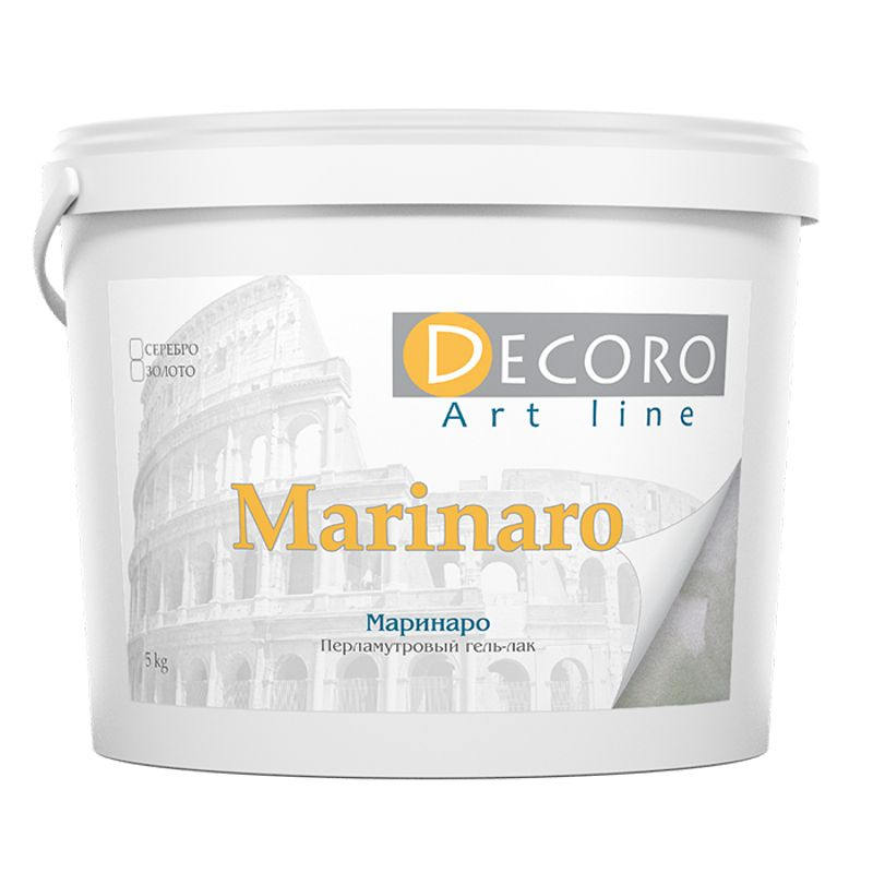 Гель-лак перламутровый Decoro Marinaro полупрозрачный, золото, 1кг фото