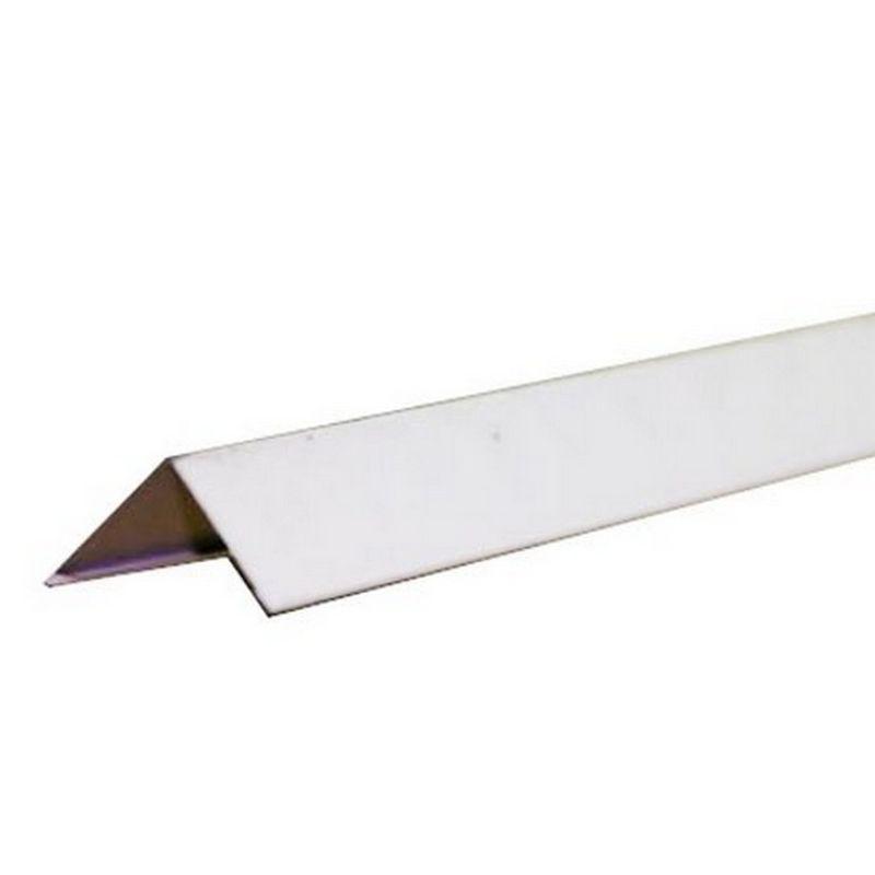 Профиль угловой стальной Албес 19х19 мм белый L=3 м фото