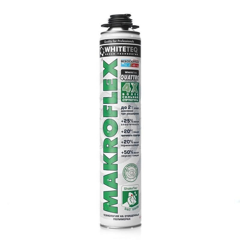 Пена монтажная Makroflex WhiteTeq профессиональная, 750 мл