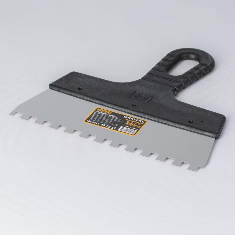 Шпатель зубчатый, зуб 8×8 мм, 200 мм фото