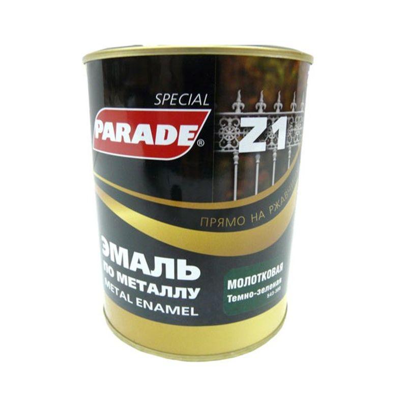 Купить со скидкой Эмаль Parade Z1 по металлу молотковая, темно-зеленый (0,75л)