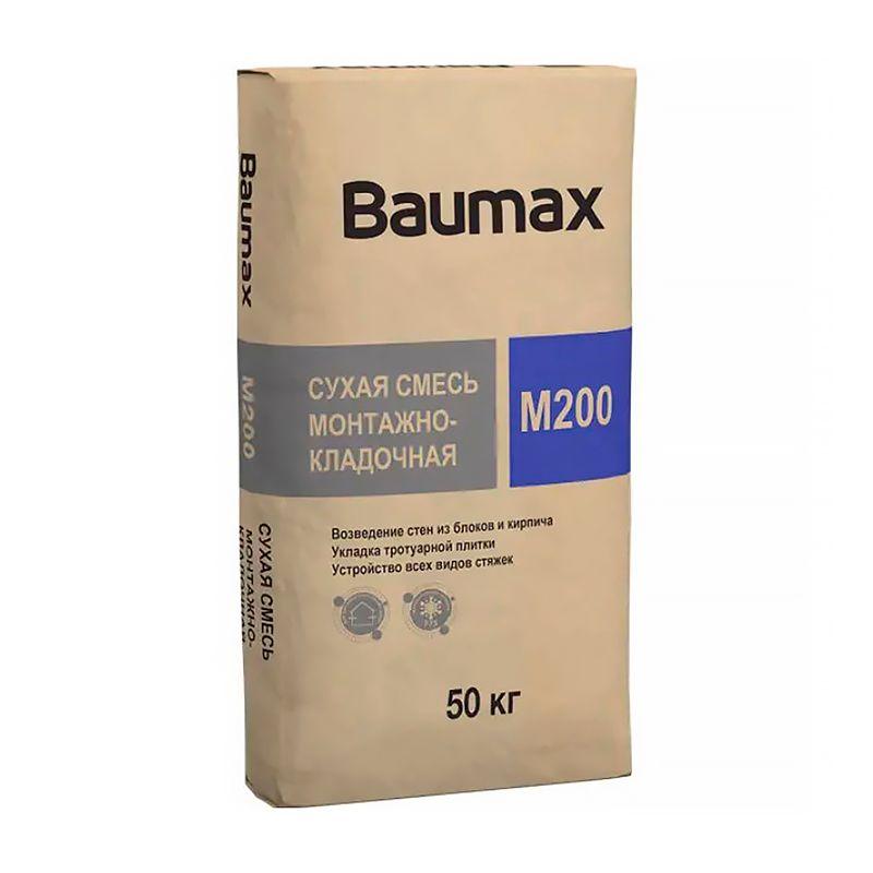 Смесь монтажно-кладочная Baumax М-200, 50 кг