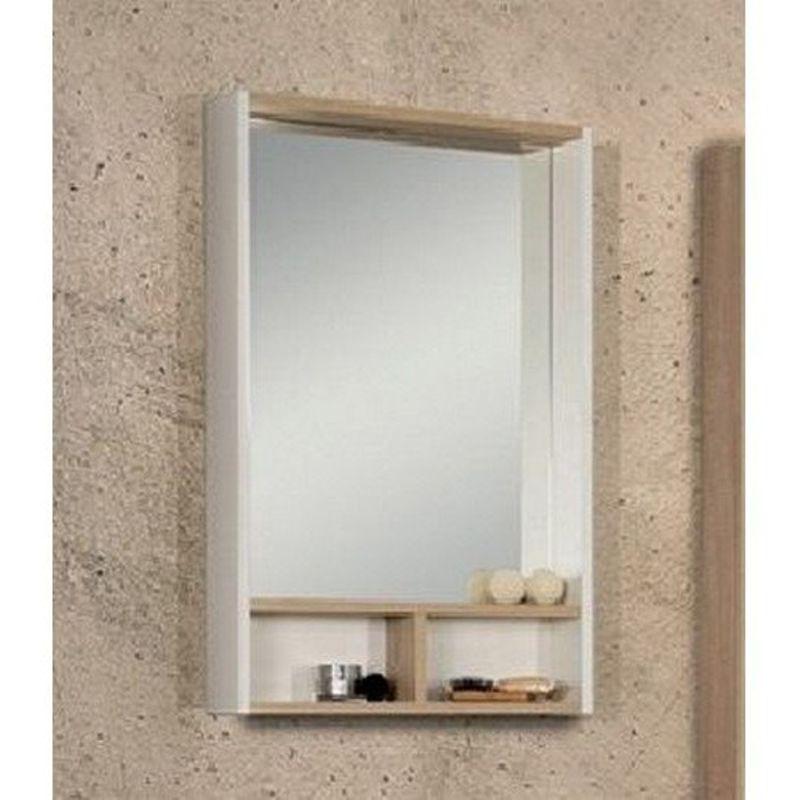 Купить Зеркальный-шкаф Акватон Йорк 55 белый/дуб сонома (1A173202YOAD0), Россия