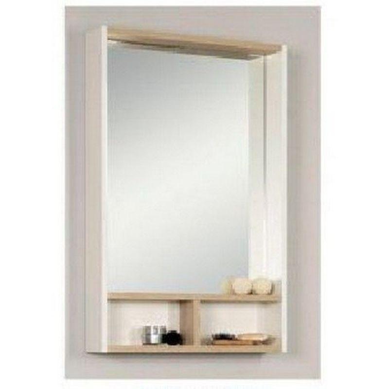 Купить Зеркальный-шкаф Акватон Йорк 55 белый/ясень фабрик (1A173202YOAV0), Россия