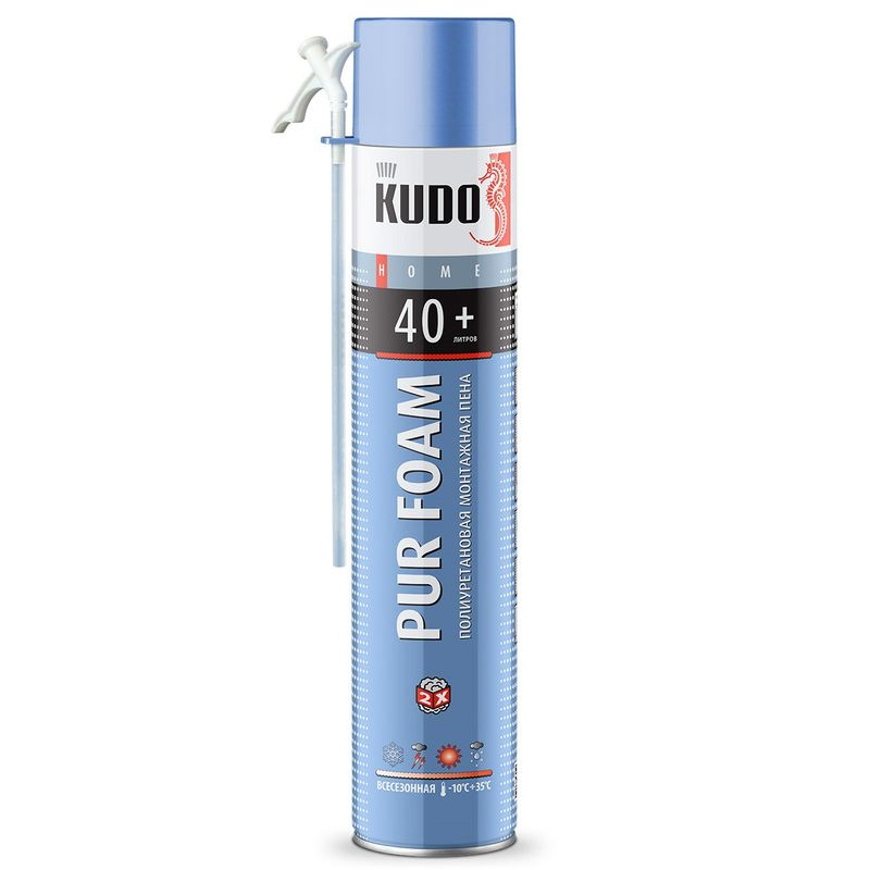 Пена монтажная KUDO Home 40, бытовая, всесезонная, 1000 мл фото