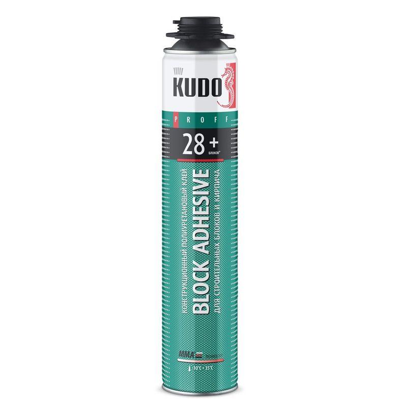 Фото #1: Клей-пена конструкционная KUDO Proff 28+ ABL профессиональная, всесезонная, 1000 мл